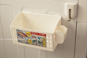 자석부착 세탁기 냉장고 수납 바스켓 바구니 - 세제 브러시 세탁용품 정리